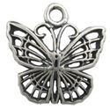 Picture of Sterling Silver Machine Cast Butterfly Charm 10.5x10mm