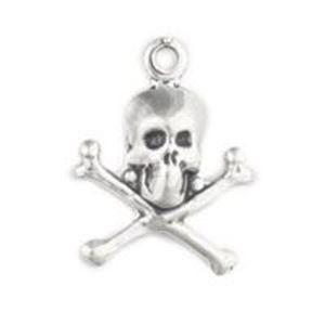 Charm ss lrg skull crossbones thunderbird supply company picture of sterling silver skull crossbones charm large 17x13mm aloadofball Gallery