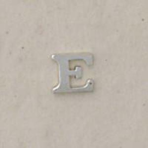 """Picture of Sterling Silver Roman Letter """"E"""" - 1/4 Inch, 24ga"""