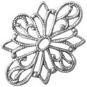 Picture of Sterling Silver Fancy Filigree Link 24mm