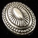 Picture of Silver Plated Fancy Oval Oxidized Bead 25mm