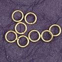 Picture of Gold Plated Round Jump Rings 5mm<br />50 Jump Rings