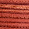 Picture of Rust Stitched Suede Round Leather 2.5mm<br />Sold by Inch