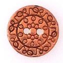 Picture of Copper Plated Pewter 12mm Vines Button Clasp, 2 Holes. B&B ~        Benbassat