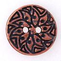 Picture of Antique Copper Plated 12mm Sun Button Clasp, 2 Holes. B&B ~        Benbassat
