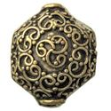 Picture of Gold Plated Copper Bali Style Bead 14x17mm 1.8mm<br />Unit Of 4pcs