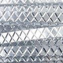 Picture of Silver Flat Diamond Cut Aluminum Wire 1x3mm - 12m