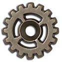 Picture of Bezel 4 Spoke Gear Concho 20mm