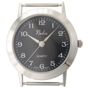 Picture of Black Wide Face Watch 38x33mm Pin Size 18mm