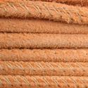Picture of Orange Stitched Suede Round Leather 2.5mm<br />Sold by Inch