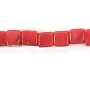 "Picture of Bamboo Coral Square Beads 3mm 16"" Strand"
