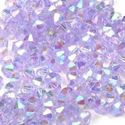 Picture of Purple Diamond Plastic Beads 4mm<br />Approximately 1200 ~        Beads