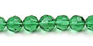 "Picture of Dark Green Czech Style Bead 6mm 16"" Strand"