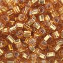 Picture of Silverlined Gold Seed Bead #4 / Size 6<br />Approximately 25 ~        Grams