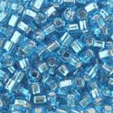 Picture of Silverlined Aqua Seed Beads #18 / Size #6<br />Approximately 25 ~        Grams