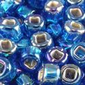 Picture of Silverlined Blue Aurora Borealis Seed Beads #633 / Size 6<br ~        />Approximately 25 Grams