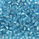 Picture of Silverlined Aqua Seed Beads Color #18 / Size #8<br />Approximately 25 ~        Grams