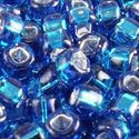 Picture of Silverlined Dark Aqua Seed Beads Color #19A / Size #8<br ~        />Approximately 25 Grams
