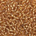 Picture of Gold Silverlined Seed Beads Color #4 / Size #11<br />Approximately 25 ~        Grams