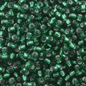 Picture of Silverlined Medium Green Seed Beads Color #16 / Size #11<br ~        />Approximately 25 Grams