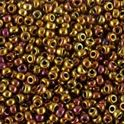 Picture of Metallic Gold Iris Seed Bead #462D / Size 11<br />Approximately 25 ~        Grams