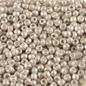 Picture of Galvanized Silver Matte Seed Bead #F470 / Size 11<br />Approximately ~        25 Grams