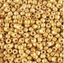 Picture of Galvanized Gold Matte Seed Bead #F471 / Size 11<br />Approximately 25 ~        Grams