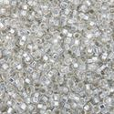 Picture of Silverlined  Crystal Seed Beads Color #1 / Size #15<br ~        />Approximately 25 Grams