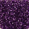 Picture of Silverlined Dark Purple Seed Beads Color #29 / Size #15<br ~        />Approximately 25 Grams