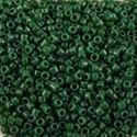 Picture of Opaque Medium Green Seed Bead #411B / Size 15<br />Approximately 25 ~        Grams