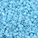 Picture of Opaque Light Blue Hexagon Bead #413 / Size 15<br />Approximately 25 ~        Grams