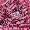 Picture of Crystal Colorlined Dust Rose Seed Bead #395 / 3x3mm<br ~        />Approximately 25 Grams