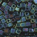 Picture of Metallic Blue Iris Square Bead #452 / 3x3mm<br />Approximately 25 ~        Grams