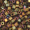 Picture of Metallic Gold Iris Square Bead #462D / 3x3mm<br />Approximately 25 ~        Grams