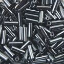 Picture of Metallic Hematite Bugle Beads 6mm Color 451<br />Approximiately 25 ~        Grams