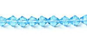 """Picture of Aqua Czech Style Bead 4mm 16"""" Strand"""