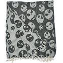 "Picture of Black/White Skulls Halloween Throw, 50"" x 60"""