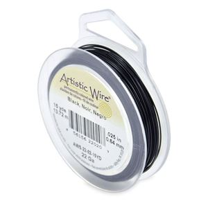 Picture of Black Artistic Wire 22ga 15 Yards