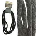 Picture of 4mm Black Metallic Knit, 5 ft. Coil