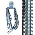 Picture of 5mm Studded Faux Suede, Blue Mix, 8 Meters