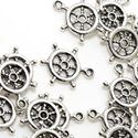 Picture of Sterling Silver Ship Wheel ~        16mm