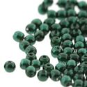 Picture of Round Glass Pearl Deep Emerald, 2mm, 150 beads