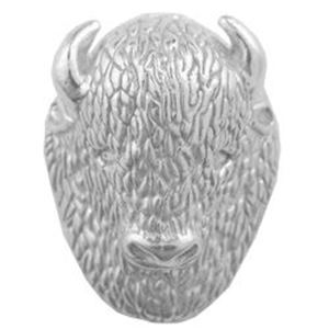 Picture of 3D Buffalo Head Sterling Silver Machine Cast