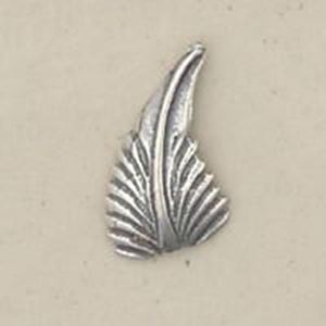 Picture of Sterling Silver Machine Cast Left Leaf 16mm