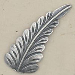 Picture of Sterling Silver Machine Cast Left Leaf 32mm