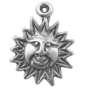 Picture of Sterling Silver Sunface Charm Machine Cas 15.5x12mm
