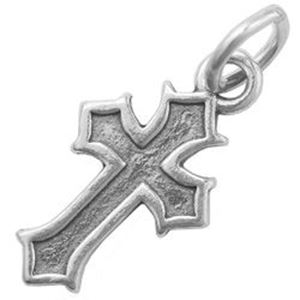 Picture of Sterling Silver Cross Charm with Jumpring, 25x11mm