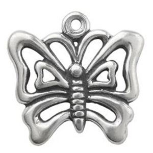 Picture of Sterling Silver Butterfly Charm 16.5x17mm