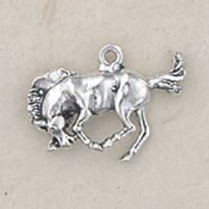 Picture of Sterling Silver 3 Dimensional Bronco Bucking Charm 14x19mm