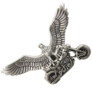 Picture of Sterling Silver Eagle With Motorcycle Charm